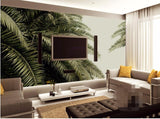 tropical leaves wallpaper mural