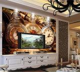 antique watch mural