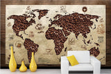 coffee bean map wallpaper