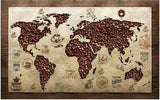 coffee bean world map wallpaper