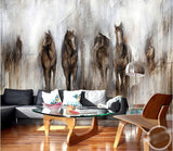 abstract horse wall mural