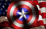 large Capt America shield wall mural