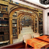 study bookcase wallpaper