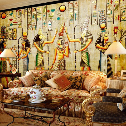 3D Ancient Egyptian Characters Artwork Design Wallpaper Wall Art ...