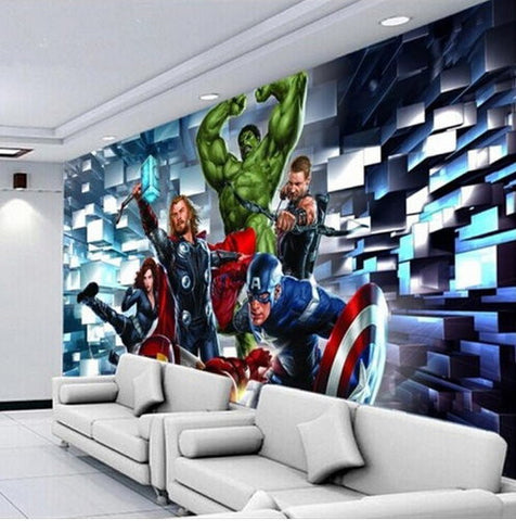 3d wallpaper the avengers wallpaper for walls