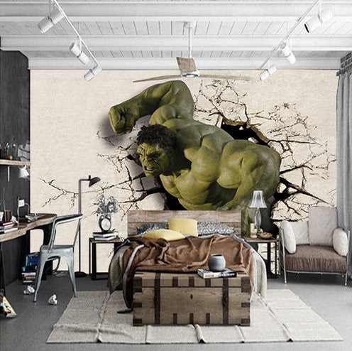 3d hulk superhero wallpaper for walls wall mural