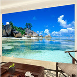 3d palm tree beach wallpaper