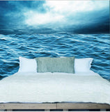 ocean waves wall mural
