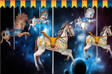 wallpaper horse merry go round