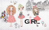 fashion girls wall mural