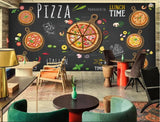 pizza hand-drawn design wall mural