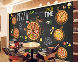 business wall mural pizza theme