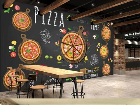 pizza drawing wallpaper