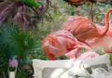 pink flamingo tropical wall paper
