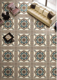 antique floral pattern self-adhesive floor wallpaper