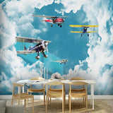 old fashioned airplanes wallpaper