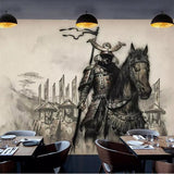 samurai warrior wall mural