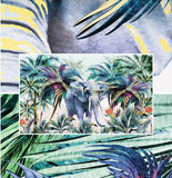 coconut trees elephant wall mural