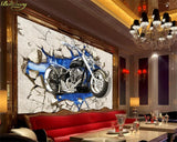 blue motorcycle wallpaper