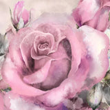 large pink rose wall mural