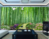 bamboo forest pathway woods wall mural