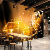 earth circuit modern technology wall mural