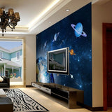 planets universe wall mural
