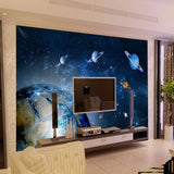 planets universe design mural