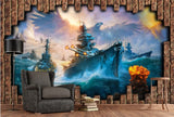 Pacific Ocean war battle ships wall mural