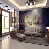 forest elk deer wall mural