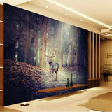wallpaper forest elk deer