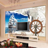 beibehang Custom wallpaper High Quickly mural 3d wallpaper seiling sea mew europe papel de parede 3d wallpaper Papel de parede