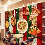 pizza design wall mural
