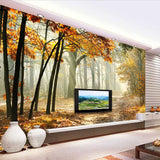 fall colors forest mural