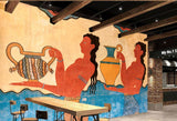ancient characters fresco wall mural