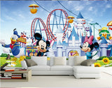 minnie mouse amusement park mural