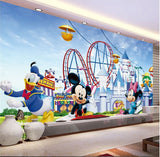 mickey mouse amusement park mural