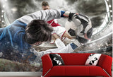 soccer football goal wall mural