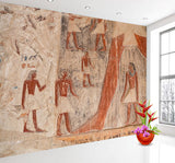 ancient Egypt stone drawing mural