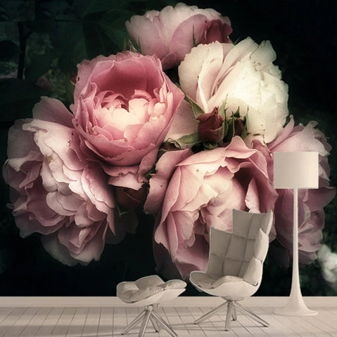 pink roses photo wallpaper