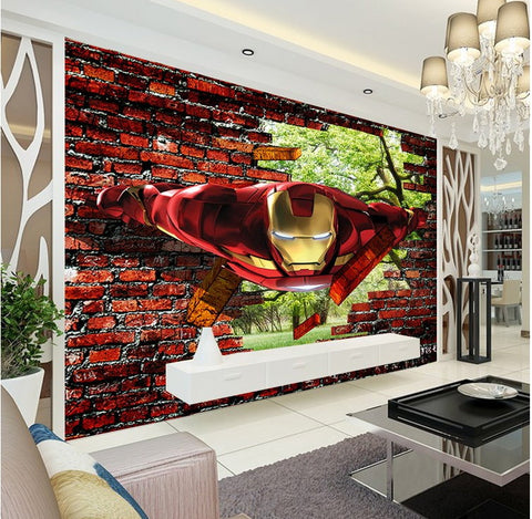 iron man wall mural