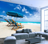 white sand beach wall mural