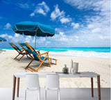 beach chair wallpaper