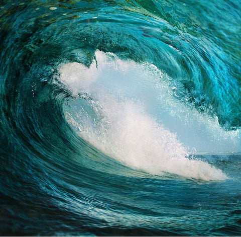 huge ocean wave wall mural