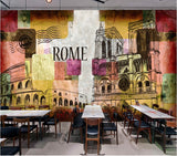 retro graffiti Rome wall mural