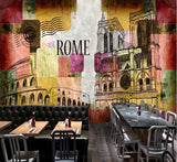 tourist attractions Europe retro wall mural