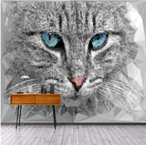 abstract cat face wallpaper