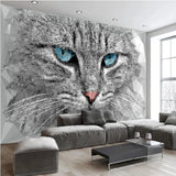 abstract cat mural