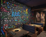 mathematical formula wall mural