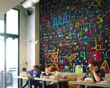 math formula blackboard wall mural